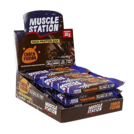 Muscle Station Protein Bar Chocofusion 65 Gr 12 Adet